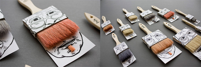 El moustache Packaging de la Brocha - innovador envase