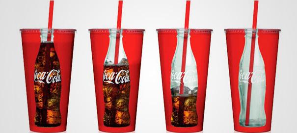 Envases de coca cola - sustraccion - innovacion