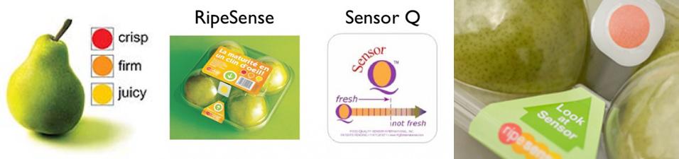 Fruta fresca - envase con etiqueta activa - innovacion
