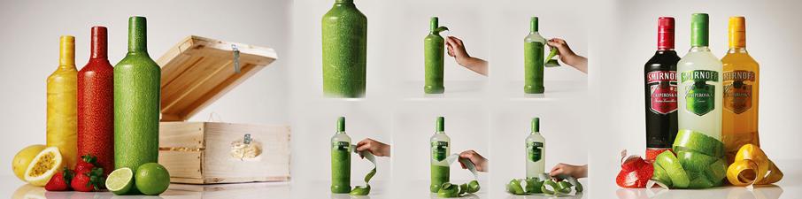 Smirnoff Caipiroska – El envase que hay que pelar